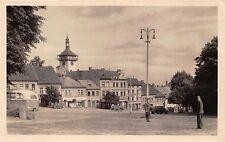 ROUDNICE NAD CZECHOSLOVAKIA MIROVE NAMESTI ~OLD BUS~WAGON~SOLDIER PHOTO POSTCARD