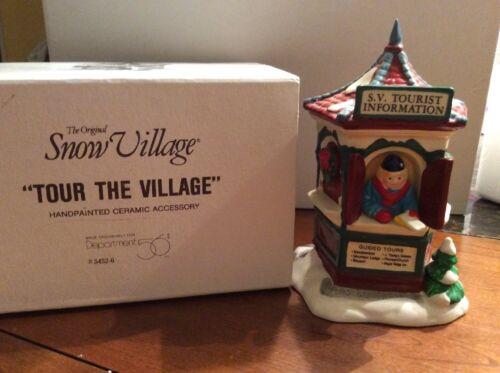"""Dept 56 Snow Village /""""Tour the Village/""""  #54526 EUC**"""