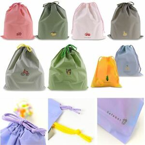 Waterproof-Laundry-Shoe-Travel-Pouch-Portable-Tote-Drawstring-Storage-Bag-Case