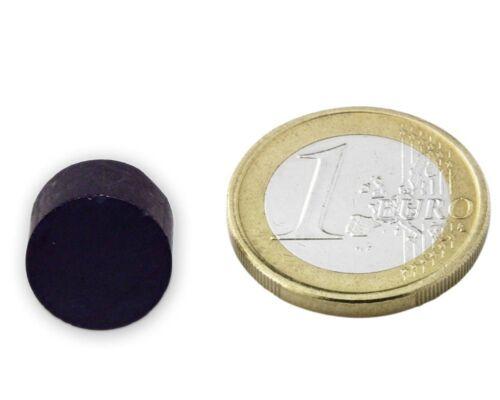 hält 750g Keramik-Magne 20 x Scheibenmagnet Rundmagnet  Ø15 x 10mm Ferrit Y35