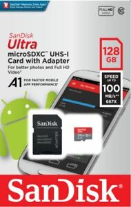 Genuine SanDisk Class 10 Ultra 128GB 100MB/s Micro SD SDHC Memory Card plus Adap 7429557188116
