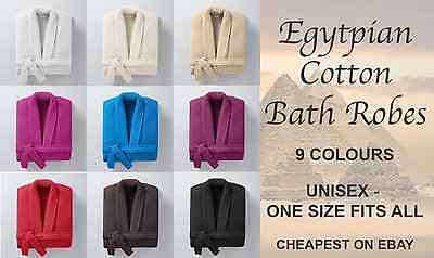 Verantwortlich 100% Egyptian Cotton Shawl Collar Bath Robe Gown - One Size Fits All - Unisex