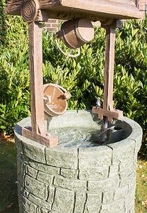 fontaine puit souhaits large h151cm fontaine exterieure decorative ebay. Black Bedroom Furniture Sets. Home Design Ideas
