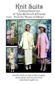"""TW203 Knit Suit Pattern for 16/"""" Tyler and friends"""