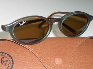 Vintage-B-amp-L-Ray-Ban-W3214-Lisse-B15-Cristal-Marron-Verres-Ovale-Chats