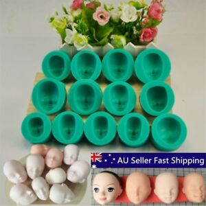 13-Styles-Silicone-Mould-Doll-039-s-Face-Sugarcraft-Cake-Decorating-Fondant-Set-AU