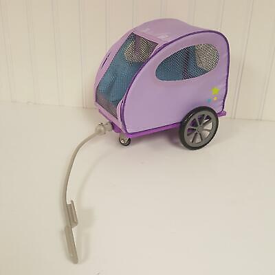 American Girl Purple Sparkle Outfit NIP Zipper Jumper Tee Metallic Headband MYAG