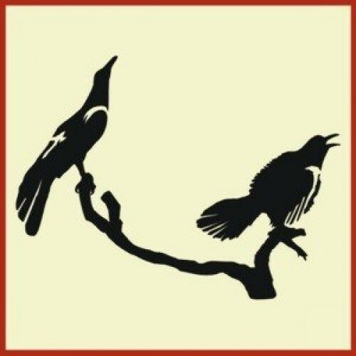 The Artful Stencil PRIMITIVE PERCHING CROWS STENCIL