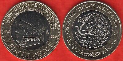 """MEXICO 20 PESOS /""""BELISARIO DOMINGUEZ/"""" 2013 BI-METALLIC COIN IN CAPSULE UNC"""