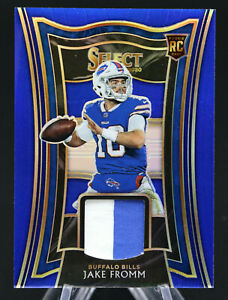 2020 Select JAKE FROMM Rookie Swatches Prizm Blue /35 RC UGA Buffalo BILLS  🏈