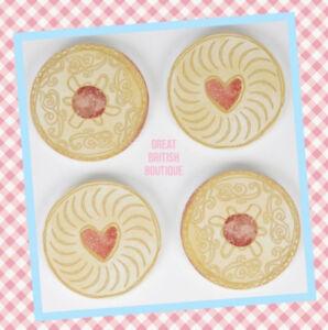 Fun-Retro-Sass-amp-Belle-034-Jammmy-Dodger-034-Biscuit-Coasters-Set-of-4