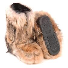 BRAND NEW CANADIAN  NATURAL COYOTE FUR WINTER BOOTS BOOT MEN WOMEN $50 DISCOUNT!