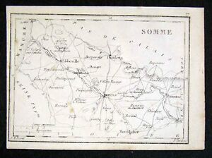 Maps, Atlases & Globes Somme Somme 1878 Old Antique Vintage Map Plan Chart Art