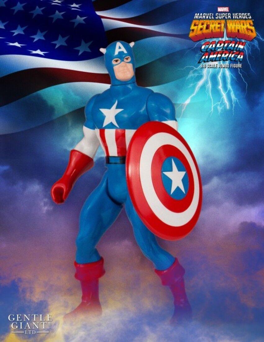 2016 MARVEL GENTLE GIANT SECRET WARS CAPTAIN AMERICA 12  ACTION FIGURE MIP NEW