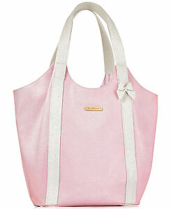 Image Is Loading Juicy Couture Baby Pink White Tote Travel Shoulder