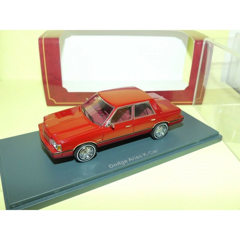 DODGE ARIES K-CAR red AMERICAN EXCELLENCE NEO 1 43