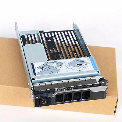 "3.5/"" Hard Drive Tray Caddy w//2.5/"" Adapter For Dell R710 R720 R510 R310 R410 R620"