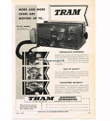 Frugal 1964 Tram Tr-70c Mobile Cb Radio Transceiver Vtg Print Ad To Win A High Admiration And Is Widely Trusted At Home And Abroad. Advertising Collectibles