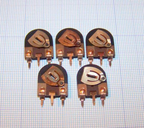 5 pezzi 1 M Ohm Trimmer Potenziometro Verticale Vintage NOS 15 x 16,5mm passo 10