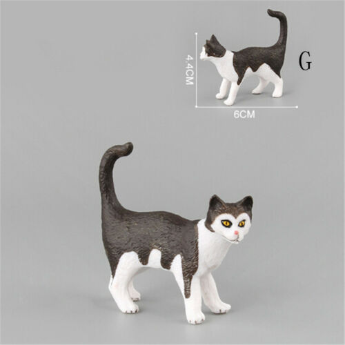 Farm Simulation Mini Cat Animal Models Plastic Figures Decors Kids Gift Toy new.