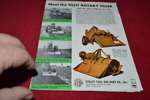 Tillit Rotary Tiller Dealer's Brochure YABE15   eBay