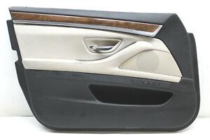 2011-BMW-528I-FRONT-LEFT-DOOR-PANEL-TRIM-BEIGE-OEM-11-12-13-14-15-16