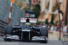 "Formula One F1 Driver Bruno Senna Lotus Hand Signed Photo 12x8"" AB"