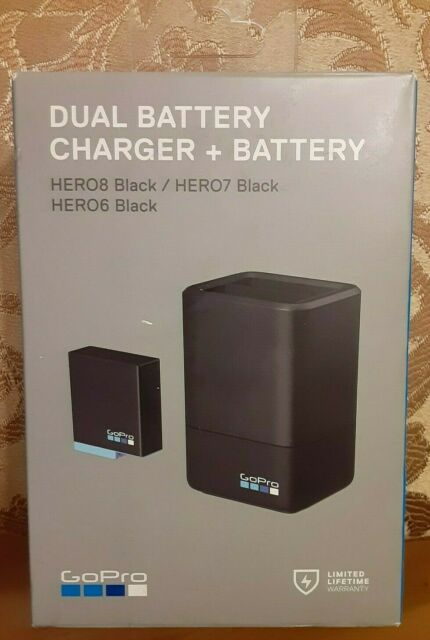 **NEW**GoPro Dual Battery Charger w/ One Battery for HERO8/7/6 Black (AJDBD-001)