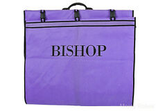 Bishop Vestment Carrying Bag, Purple/Black, 74 Inches Long, Clergy Robe Bag