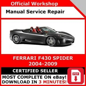 FACTORY-WORKSHOP-SERVICE-REPAIR-MANUAL-FERRARI-F430-SPIDER-2004-2009-OFFICIAL