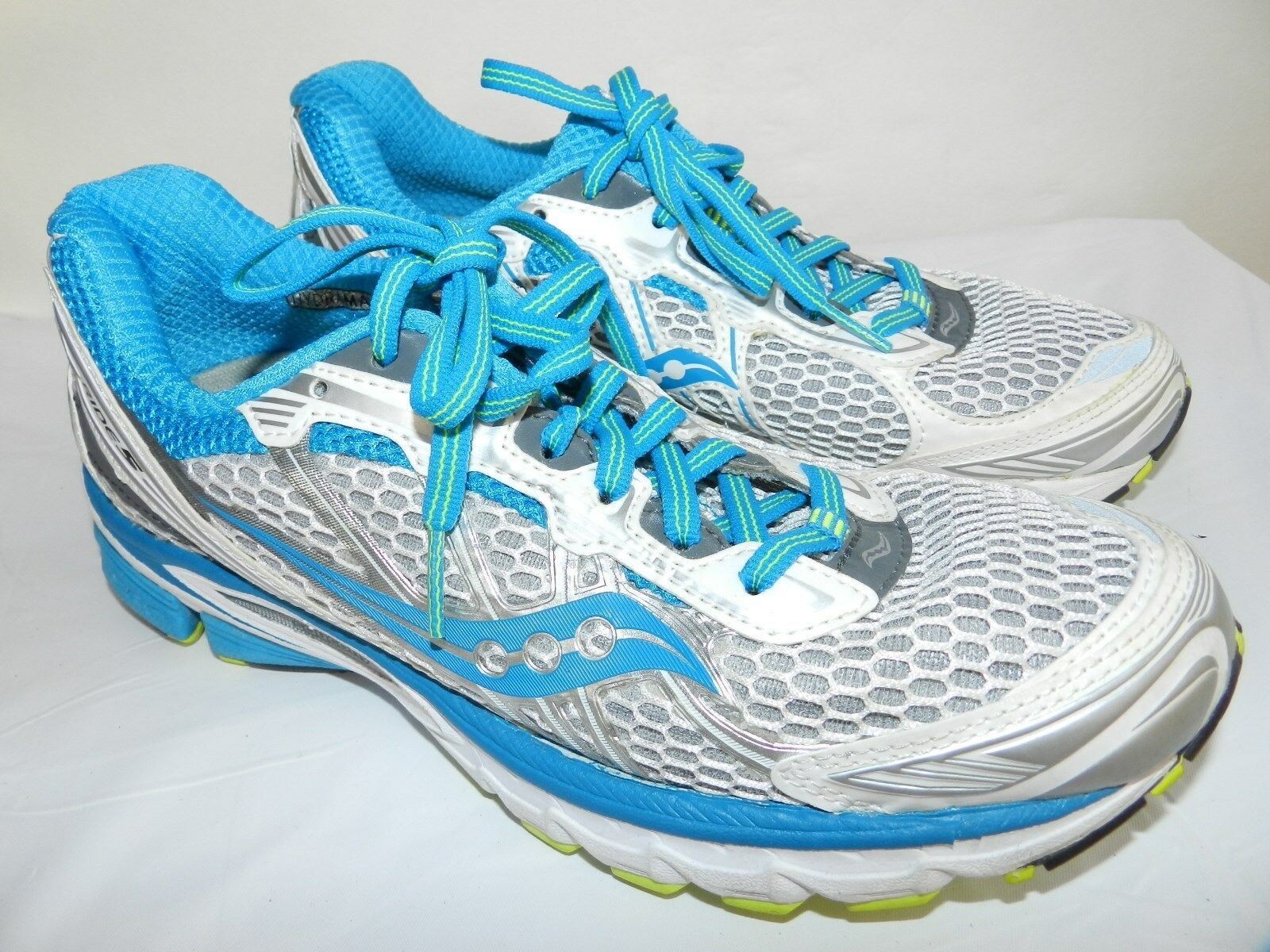 WOMENS RUNNING hydramax SHOES = SIZE 7.5 = SAUCONY ride 5 playgrid sneakers ss14