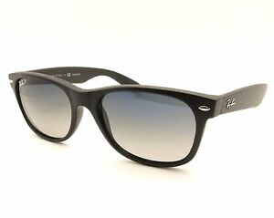 2d5218b7b9 Ray Ban New Wayfarer 2132 601S 78 Matte Black Blue Grey Gradient ...