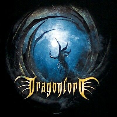 DRAGONLORD cd cv BLACK WINGS OF DESTINY Official SHIRT LAST XL New OOP testament
