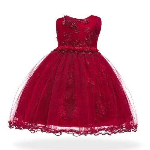 Bridesmaid dresses girl flower tutu princess kid wedding party dress baby formal