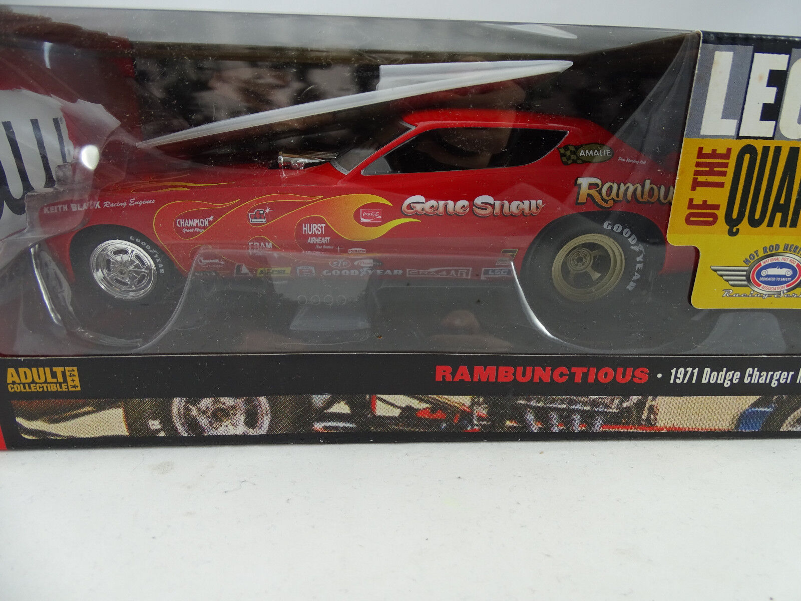 1 18 AUTOWORLD     Ertl - 1971 Dodge Charger RAMBUNCTIOUS NHRA FUNNY CAR 155948