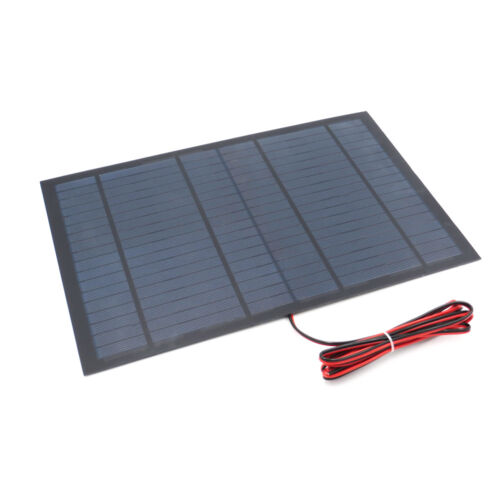 18V 10W Solar Panel Poly Epoxy Module Cable DIY Kit Light Pump Power Bank Charge