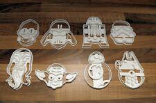 Star Wars Stampi Per Biscotti x8 Vader,Trooper,C3PO R2D2,BB8,Yoda,Gommoso,Falcon