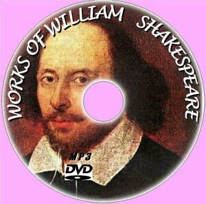 WILLIAM-SHAKESPEARE-220-CLASSIC-WORKS-MP3-AUDIO-BOOKS-NEW-MP3-PCDVD-POEMS-PLAYS