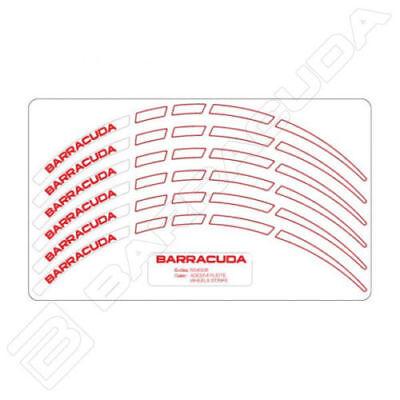 Barracuda Kit Completo Adesivi Bianchi Cerchi Ruote Per Tutte Le Moto Husqvarna Quell Summer Thirst