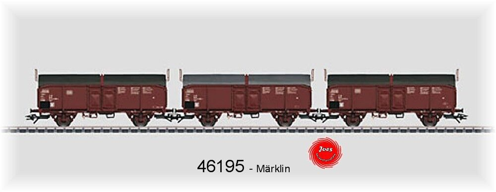 Märklin 46195 Jeu avec 3 Wagons à Toit Ouvrant Tcms 850 de Db #