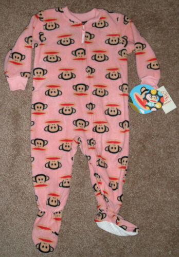Paul Frank Baby Girls PINK Footed Blanket Sleeper Pajamas 12-18-24M 2T 3T 4T NWT