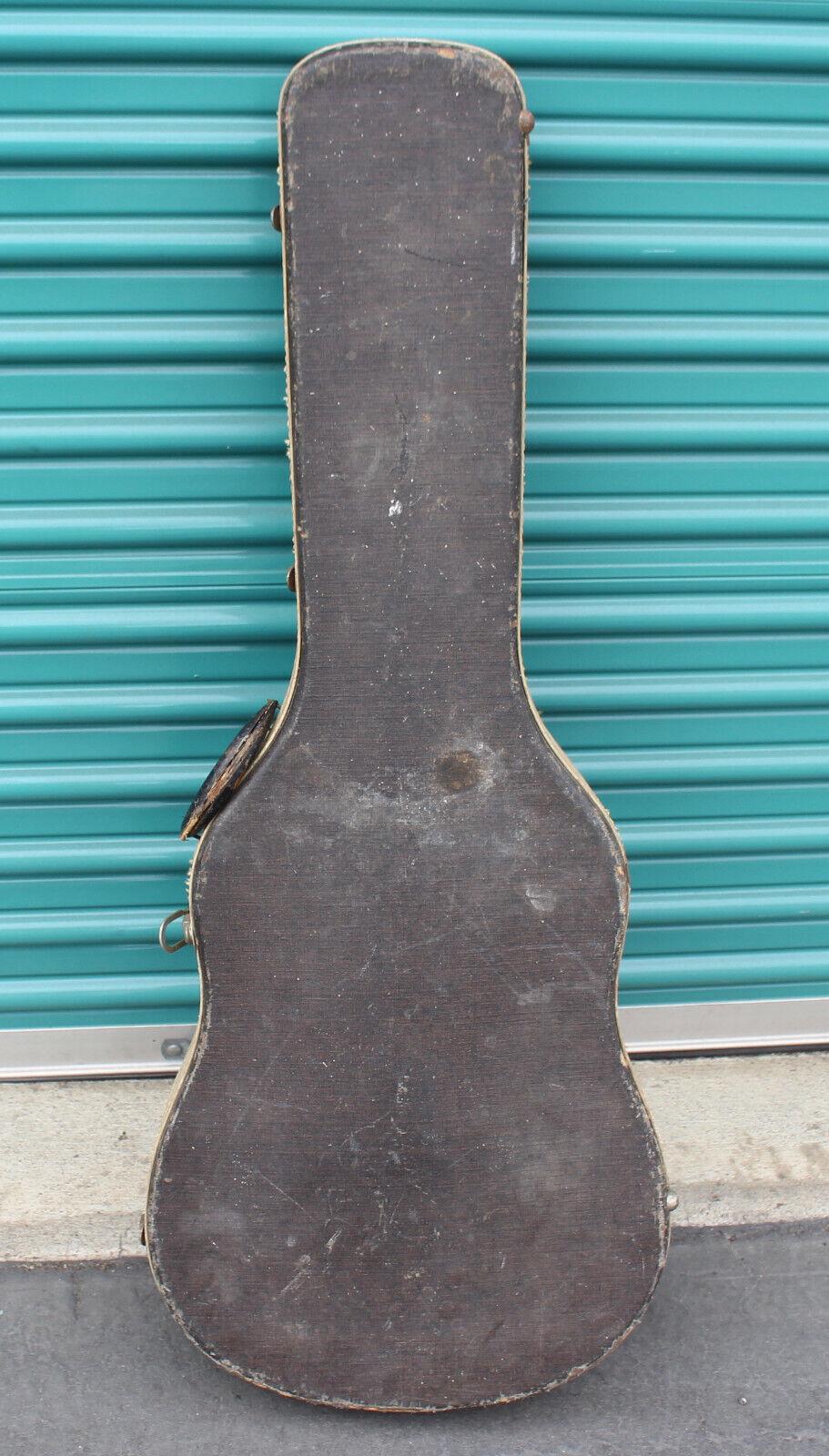 Vintage Guitar Hardshell Hard Case Hollow Body Hardcase rot Interior Gretsch