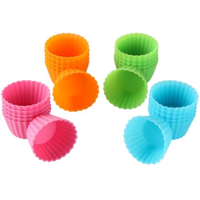 Bakerpan Silicone Mini Cupcake Holders, Mini Cupcake Liners, 24 Pack
