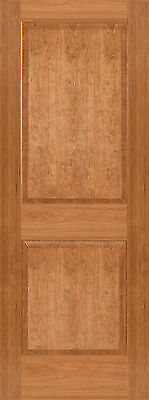 Cherry 2 Panel Square Raised Panels Stain Grade Solid Core Interior Wood Doors