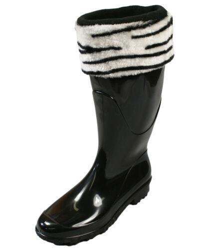 Femme Hiver Doux Confortable Polaire Imprimé Wellington wellie chaussettes Boot Liners