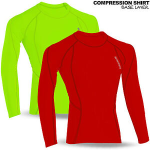 Mens-Full-Long-Sleeve-Thermal-Base-Layer-Compression-Shirt-Top-Body-Armour