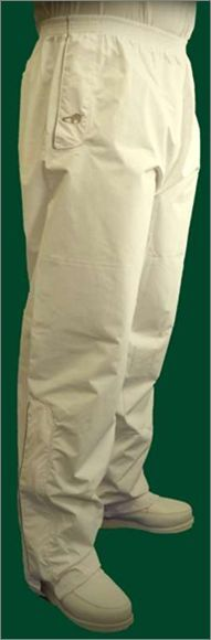 Emsmorn bowls bowlswear clothing OW-VLTR Ventilite waterproof white trousers