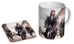 Call-The-Midwife-Bicycle-Ceramic-Tea-Coffee-Mug-Coaster-Gift-Set