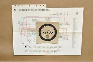 Details about 1993 Yamaha GTS1000 AE GTS1000 AEC Factory Color Schematic on