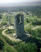 8x10 Nasa Photo: First Constructed Space Shuttle Enterprise In Test Stand